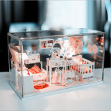 Cas d'exposition acrylique clair fait sur commande de figurine de boîtes de présentation