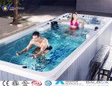 Esterno sopra la STAZIONE TERMALE acrilica a terra della piscina del mulinello