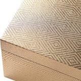 Form-Dame Wooden Wrapped mit Goldspezialgebiets-Papier-Kosmetik-Kasten