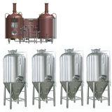 Equipo micro de la elaboración de la cerveza
