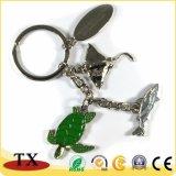 Акула форму цепочке для ключей с натуральной морской черепахи подвесной цепочке для ключей
