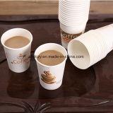 El logo impreso personalizado 6 onzas de papel desechables aislados de tazas de café