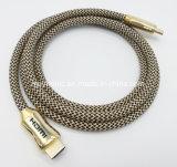 Cavo di nylon 4K 2.0 della treccia HDMI con cavo Braided 28AWG