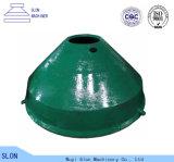 Le broyeur de cône du trio Tc66sh partie concave et le manteau pour l'agrégat de la colle