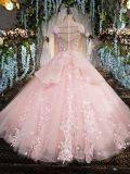 Дешевая роскошная розовая мантия венчания платья платья партии вечера Bridal