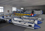 Opblaasbare Boot van de Redding van de Boot van de Rubberboot van Liya de Draagbare Oranje