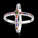 Onlangs plateerde het Goud van het Ontwerp de Veelkleurige Juwelen van de Manier van de Ring Zircon