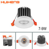 5 watts 7W COB LED Downlights LED commerciale à intensité réglable