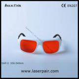 Excimer, ultravioleta, vidros de segurança verdes dos óculos de proteção da proteção do laser para 266nm 355nm 515nm 532nm de Laserpair