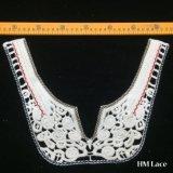 le plus défunt collier de lacet de coton de broderie d'Applique d'encolure de 34*25cm pour la forme de v Hm2045 de Madame Blouse U