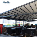 シェーディングの防水ファブリックが付いているキャンバスによってモーターを備えられる引き込み式の日除けの屋根