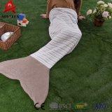 Polyester flanelle promotionnel Crochet Couverture de la queue de sirène