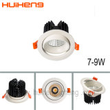 L'aluminium S/N 7W 5W 6W 75mm Trou Downlight Led de coupe