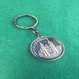Оптовая изготовленный на заказ кожа Keychain металла