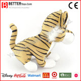 Brinquedo macio do tigre do animal enchido do luxuoso do presente da promoção para miúdos do bebê