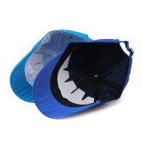 Casquillo azul/negro del deporte de la gorra de béisbol del poliester