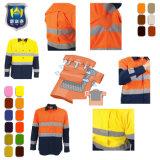 Abbigliamento protettivo antincendio 100% arancione della camicia del lavoro di sicurezza di forza del Mens del cotone ciao