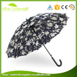 صنع وفقا لطلب الزّبون يعلن حرارة إنتقال طباعة مظلة مستقيمة