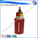 Plásticos resistentes/flúor/cabo de controle de alta temperatura