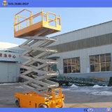Levage automoteur de ciseaux d'entraînement de batterie de Tavol 8m