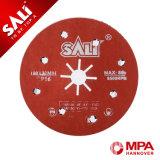 Disco de la arena de la fibra de Sali hecho de fibra resistente y del mejor grano abrasivo