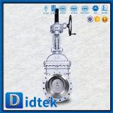 Le volant de commande de Didtek a bridé soupape à vanne de l'acier inoxydable CF3m d'extrémités