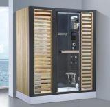 Sauna combiné par vapeur venu neuf de rectangle avec la douche (AT-D8878)