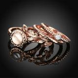 형식 금은 결합한 반지 세트 보석을 잘 도금했다