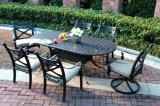 7PC het Dineren van de tuin het Reeks Gegoten Meubilair van het Aluminium