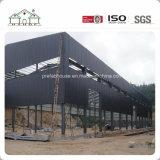 La estructura de acero de construcción de almacenes prefabricados