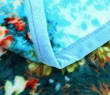 A flor macia morna imprimiu o cobertor 100% do velo da flanela do poliéster