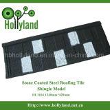 Azulejo de azotea revestido del metal de la piedra del material de construcción (tipo de la ripia)