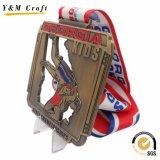 Качества Hight медали металла медаль 3D изготовленный на заказ воинское с тесемкой