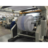 Rollo de papel Jumbo automática Máquina de corte longitudinal con Shaftless cargando