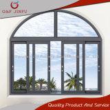 Un design moderne Profil en aluminium double voie fenêtre coulissante en verre
