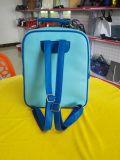 La moda de color azul brillante estudiante de la escuela Backapck cuero pu Bolso
