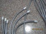 Boyaux de douche à haute pression de salle de bains d'acier inoxydable, EPDM, noix en laiton, homologation d'Acs