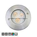 3W. Indicatore luminoso subacqueo messo del raggruppamento dell'acciaio inossidabile IP68 LED di /9W