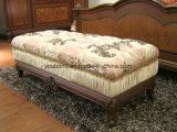 Королевское классическое собрание комнаты кровати картины твердой древесины типа E51