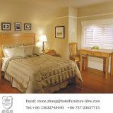 Мебель комплекта спальни гостиницы древесины сосенки цвета природы твердая