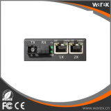 BIDI T1310/R1550nm SC 60kmが付いている2X 10/100Base UTP媒体のコンバーターへの1X 100Base-FX