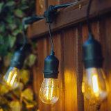 크리스마스 48FT SAA 끈 빛 S14 G40 Dimmable 필라멘트 LED 전구가 옥외 훈장 LED 끈에 의하여 점화한다