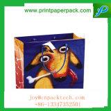 Sacchetti stampati decorativi del regalo della carta kraft Di disegno dell'annata grandi con la maniglia