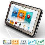 "Venta caliente 5.0"" de mano de coche Navegación GPS Dash con WINCE 6.0 System,ARM Cortex A7, transmisor de FM, AV de la cámara trasera, navegador GPS, reproductor de MP3, Dispositivo de seguimiento"