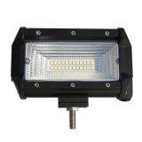 """IP68 2 barra clara do diodo emissor de luz da luz ponto inundação fileira 8d 72W 5 """" mini para o carro SUV 4X4 Offroad"""