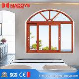 Окно спальни самомоднейшей конструкции энергосберегающее сползая с сеткой