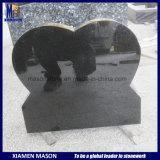 Headstone e memoriali a forma di cuore alzati in granito nero