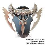 Ornamentação 43*23cm da HOME da faca da fantasia da faca da coruja de noite