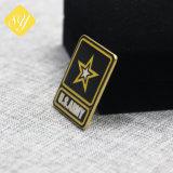 Il Pin dello smalto placcato oro ha annunciato i distintivi su ordinazione della polizia del metallo dell'esercito
