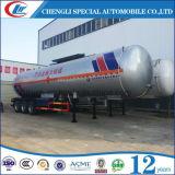 ガスタンクのトラックのトレーラーの液体を調理する三車軸56m3 LPGトレーラー